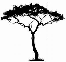 afrikanischer baum silhouette tree uber decals wall decal vinyl decor sticker