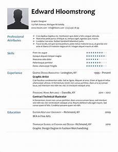 45 free modern resume cv templates minimalist simple clean design