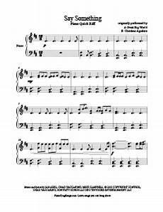 say something a great big world free piano sheet music piano paradise violin sheet music