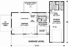 rv garage house plans rv garage with observation deck 20083ga architectural