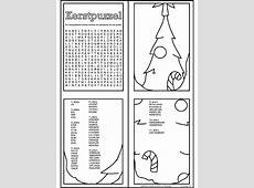 Kleurplaat Kerstpuzzel   woordzoeker   Kleurplaten.nl