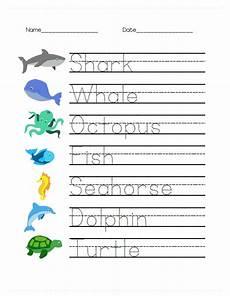sea animals worksheets for preschoolers 14123 animal math and writing worksheets for prek writing worksheets tracing worksheets