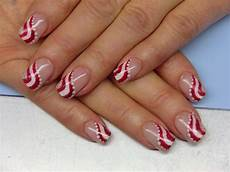 candy cane stripes nail art design everything nails