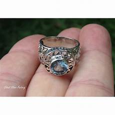 sterling silver and blue topaz gemstone ring ri 687