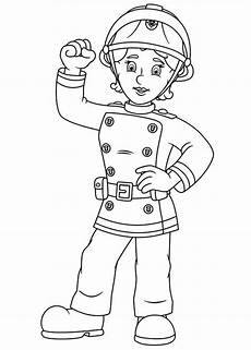 fireman sam free colouring pages