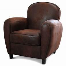 fauteuil en cuir fauteuil club en microfibre aspect cuir vieilli marron