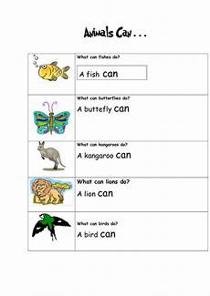 can animals do worksheets 13837 animals can