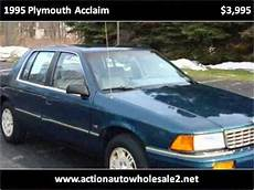 how can i learn about cars 1995 plymouth grand voyager navigation system 1995 plymouth acclaim used cars cleveland oh youtube