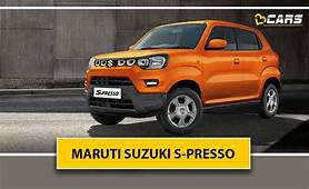 Maruti Suzuki S Presso Spied Rear Design Revealed
