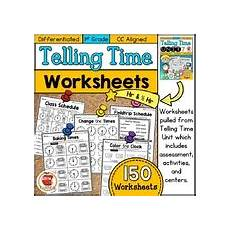 time worksheets differentiated 2965 telling time worksheets teaching resources teachers pay teachers