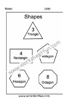 shapes triangle rectangle pentagon hexagon octagon 1 worksheet