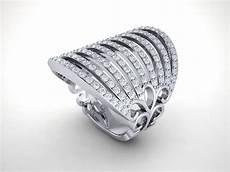 genuine 1 5ctw cut diamond fancy wide multi row wedding band ring 14k gold