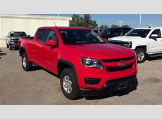 2018 Chevrolet Colorado 4WD Work Truck Crew Cab Red Hot