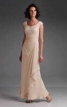2015 fashion woman modern formal dresses cap sleeves lace chagne casual mother of the bride