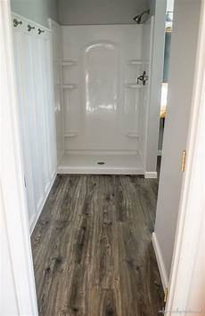 floor and decor flooring in the bathroom and laundry room
