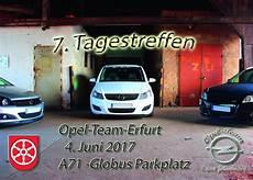 Opel Erfurt - 7 tagestreffen des opel team erfurt johannishof termine