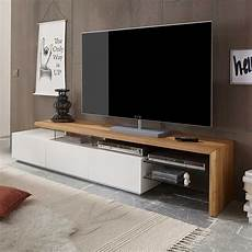 tv moebel tv board sydney in wei 223 mit eiche massivholz pharao24 de
