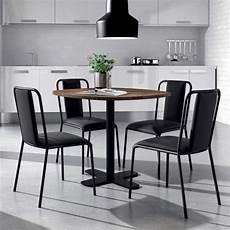 table ronde pour cuisine en stratifi 233 avec pied central