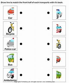 transportation worksheets preschool 15223 land transports worksheet turtle diary