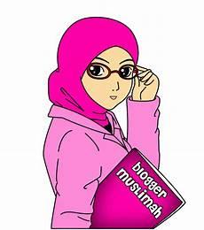 Kartun Muslimah Kacamata Gambar Kartun