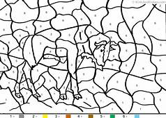 Animal Color By Number Wildabeast Coloring