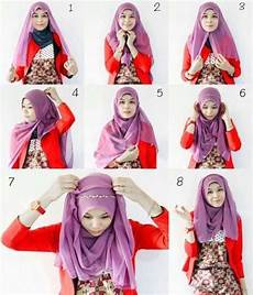 Cara Memakai Jilbab Segi Empat Dengan Headband Ala Zaskia