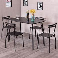 walmart kitchen furniture costway 5 dining set table and 4 chairs home kitchen