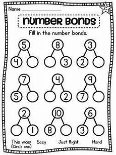 2nd grade math worksheet number bonds grade math unit 2 number sense part part whole