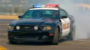 Ford Mustang Police  Car Drifting YouTube