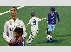 cristiano ronaldo jr playing soccer
