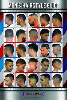 barber poster men s hairstyle guide barberwall posters