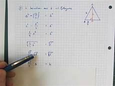 Seite S Aus Der H 246 He Im Gleichseitigen Dreieck Berechnen