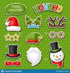 of merry christmas photo booth stickers stock vector illustration of beard group 160448008