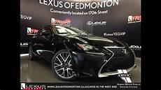 2016 black lexus rc 350 awd f sport series 2 review south edmonton alberta youtube