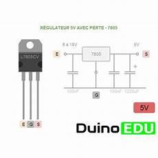 R 233 Gulateur De Tension 5v Avec Perte 7805 Duinoedu