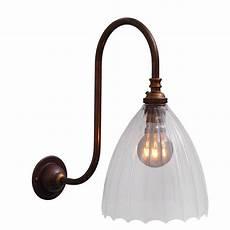 ledbury ribbed glass swan neck wall light from fritz fryer wall lights shopping