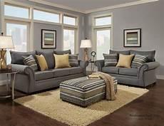 1560 Jitterbug Gray Sofa Loveseat Living Room