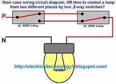 stair case wiring circuit diagram or how to control a l from two different places by two 2