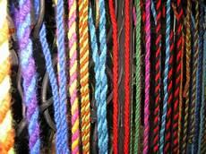 springseile mit der strickgabel gestrickt gekordelt und