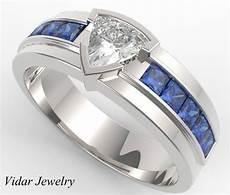 unique men s trillion cut diamond wedding band white gold vidar jewelry unique custom