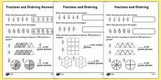 fraction worksheets primary resources 4069 free ordering fractions differentiated worksheet primary resources