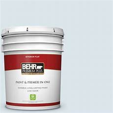 behr premium plus 5 gal 540e 1 wave crest flat low odor interior paint and primer in one