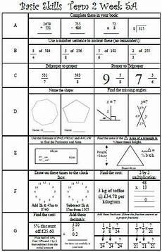 basic skills maths ks2 y5 y6 y7 grade 5 grade 6 grade 7 four functions fractions decimals