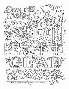 of green gables coloring page lm montgomery