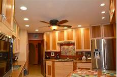 how far apart should recessed lights be placed in a kitchen opendoor