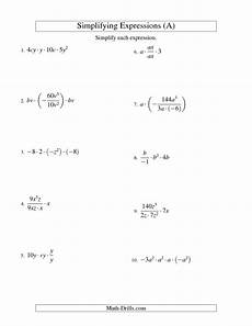 algebra worksheets simplifying expressions 8571 algebra worksheet simplifying algebraic expressions with two variables and four terms