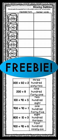 freebie expanded form cut and paste free lessons pinterest expanded form and cut and paste