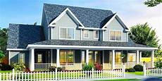 country house plans with porches plan 4138wm farmhouse design with three porches country
