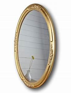 wand spiegel wandspiegel spiegel oval neu gold holz verzierungen