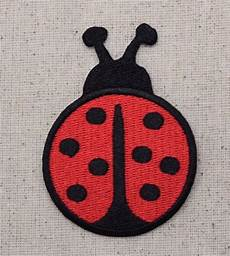applique iron on iron on embroidered applique patch large black ladybug